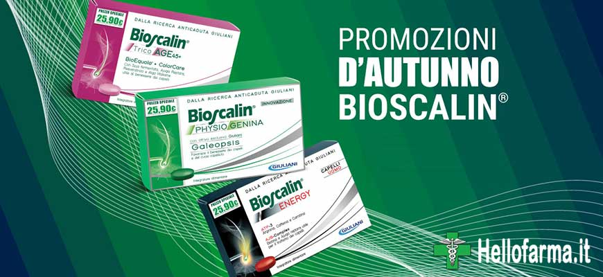 Vetrina promozione Hellofarma.it Bioscalin con Physiogenina